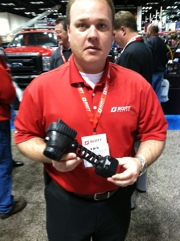Scott Safety Carolinas Regional Manager Jon Anderson with the new Eagle Attack Imager