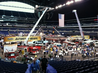 Exhibit area in Lucas Oil Stadium