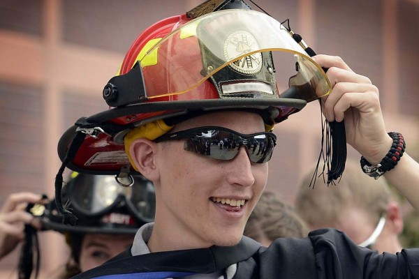fire helmet graduation
